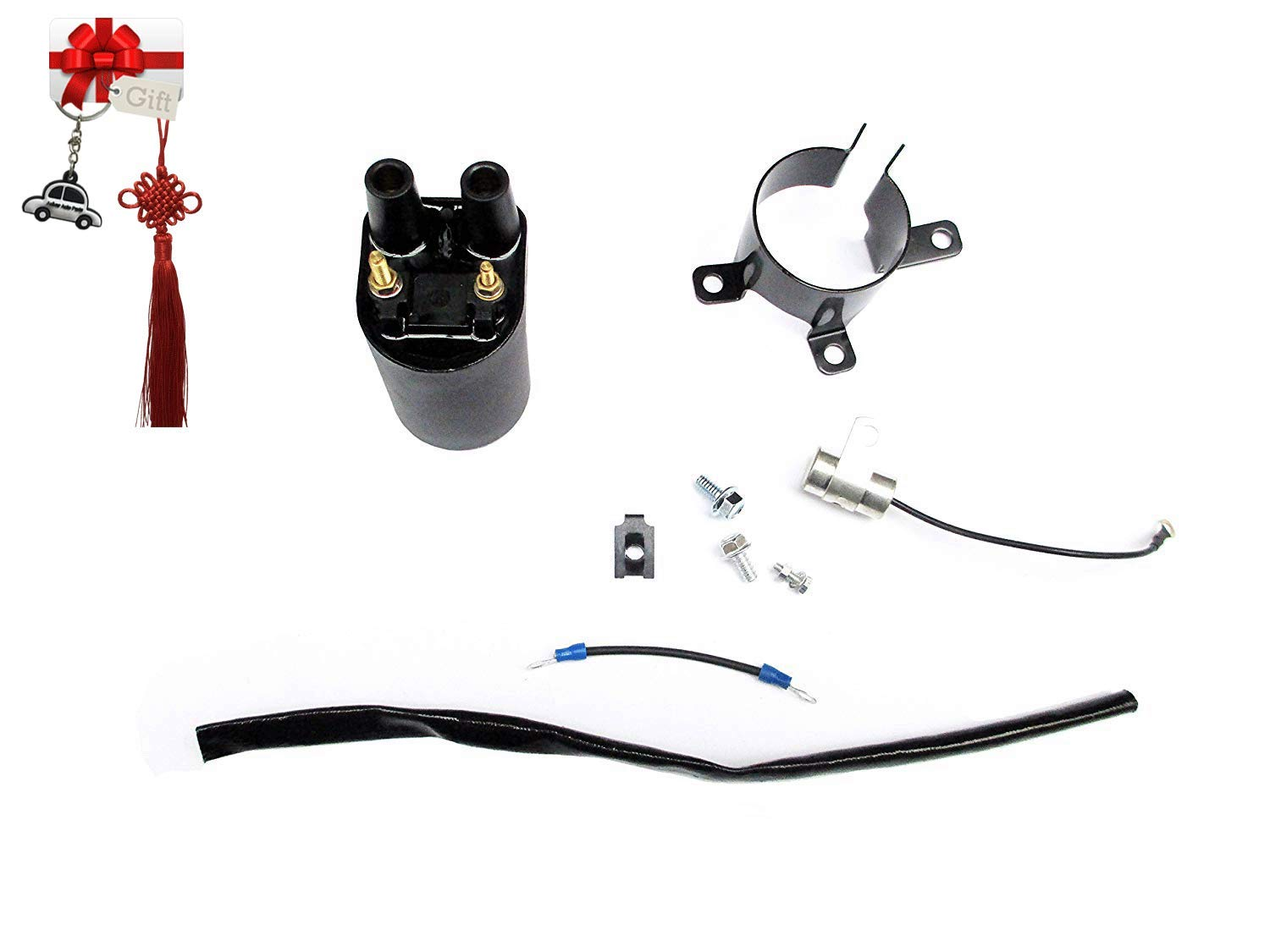 Aquiver Auto Parts Ignition Coil Kit for Onan Generator Welder Factory 541-0522 Replaces 166-076