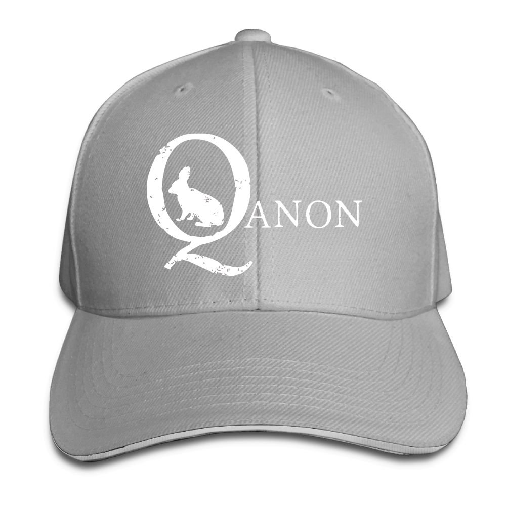 Unisex Adjustable Sandwich Hats Solid Colors Baseball Cap Snapback Hat for QAnon White Rabbit