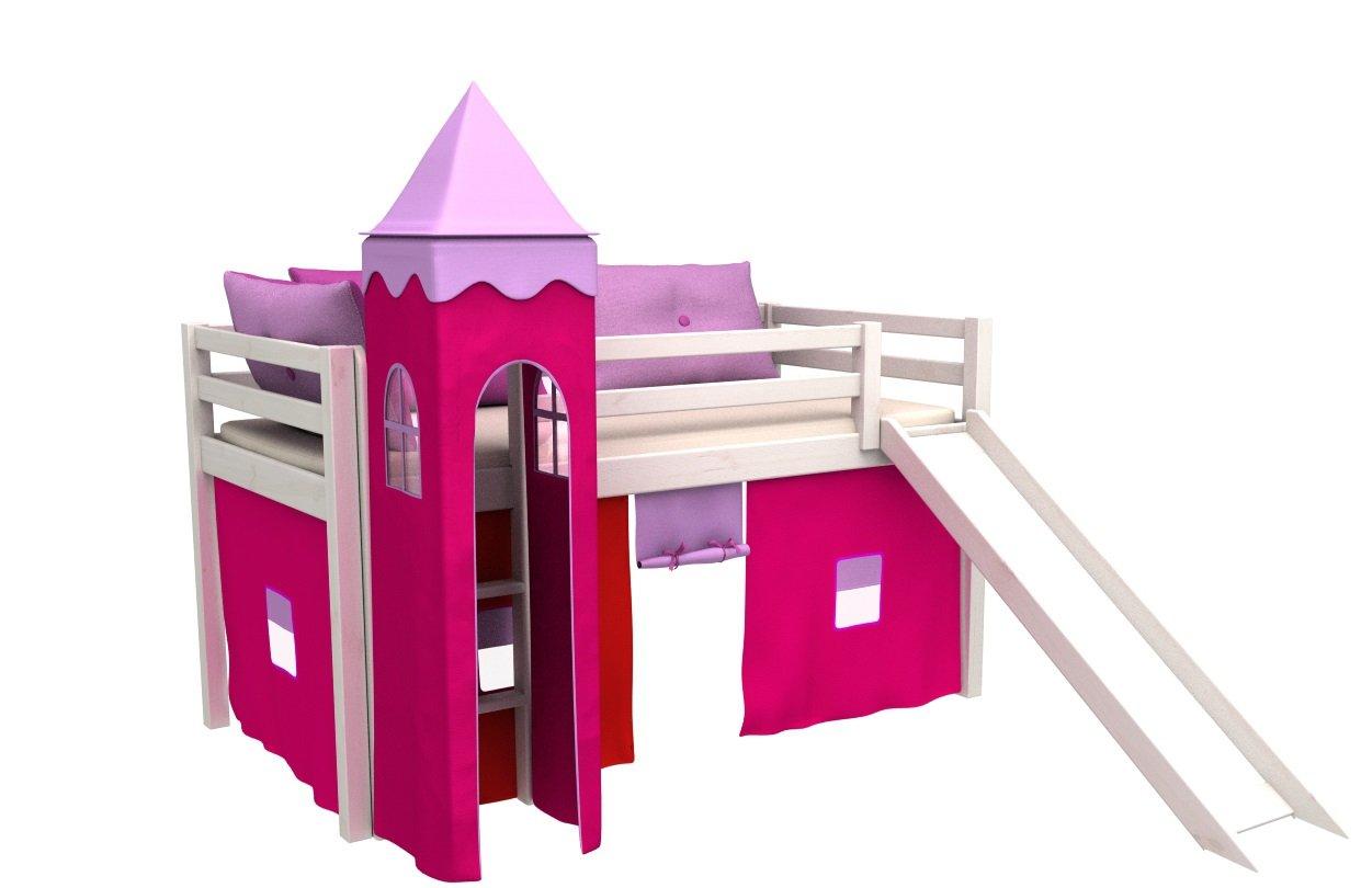 Letto per bambini con scivolo,cameratta bambino letto,letto a castello,materasso Prezzi offerte