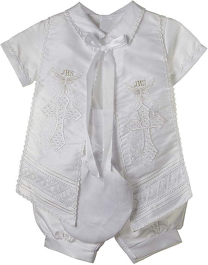 Amazon.com: Bautizo traje para niño, 4 piezas Juego de ...