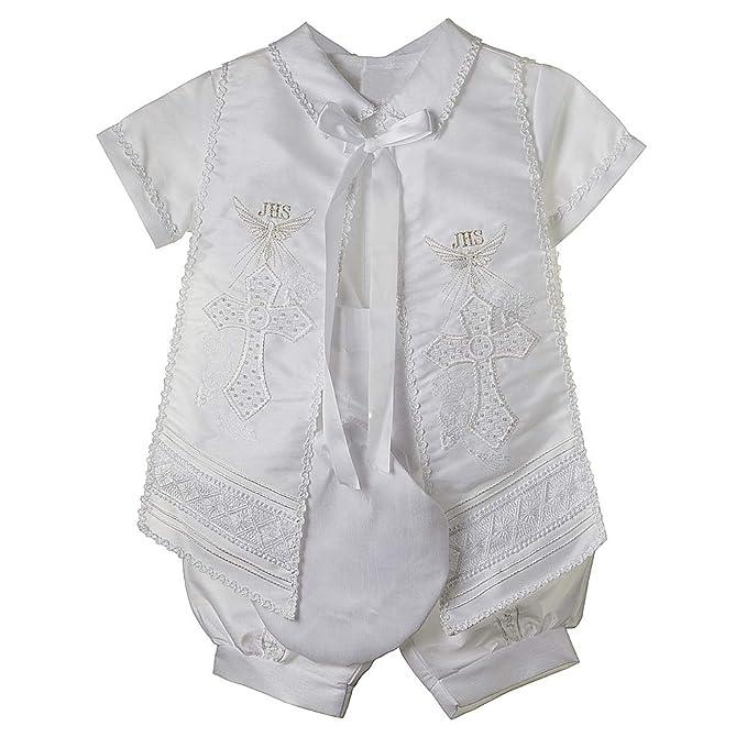 Baptism Outfit for Boy, 4 Piece Christening Set, Traje de Bautizo, RUS 905