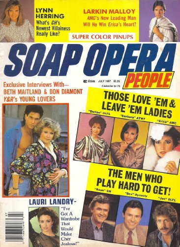 - Nancy Lee Grahn, Laurence Lau, Larkin Malloy, Beth Maitland, Michael Nader, Don Diamont Centerfold Poster - July, 1987 Soap Opera People Magazine