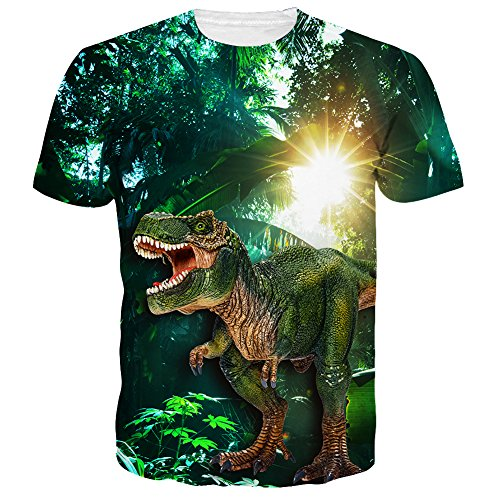 Adult Unisex Short - Neemandy Unisex Green 3D Realistic Graphics Cool Cewneck tee Shirts for Youth & Adult, X-Large