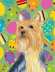 Caroline's Treasures LH9406GF Silky Terrier Easter Eggtravaganza Flag, Small, Multicolor