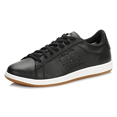 d47e4afe3a43 Le Coq Sportif Mens Black Arthur Ashe Gum Trainers  Amazon.co.uk  Shoes    Bags