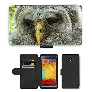 PU LEATHER case coque housse smartphone Flip bag Cover protection // M00113215 Macro del pájaro pluma polluelo del // Samsung Galaxy Note 3 III N9000 N9002 N9005
