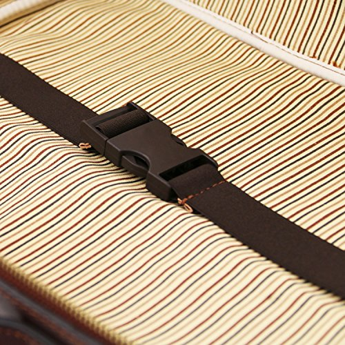 Tuscany Leather Vicenza Notebooktasche aus Leder mit Reißverschluss Dunkelbraun Honig JeKJEVl1