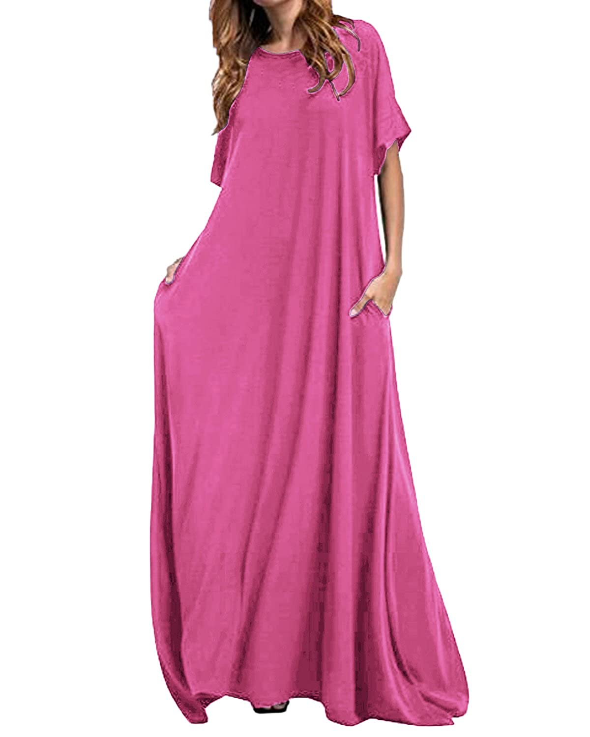 206f815a2e Chinabrands.com: Dropshipping & Wholesale cheap Kidsform Women Maxi Dress  Loose Round Neck Short Sleeve Long online.