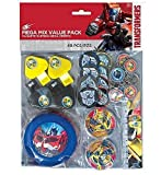 Transformers 48 Piece Mega Mix Value Party Favor Pack ~ Birthday Party Supplies