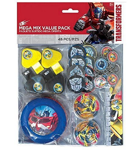 Transformers 48 Piece Mega Mix Value Party Favor Pack ~ Birthday Party Supplies ()