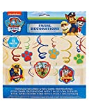 American Greetings Nickelodeon, Paw Patrol Hanging Swirl Decorations, 12-Count