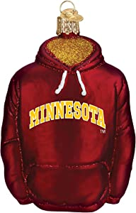 Old World Christmas University of Minnesota Golden Gophers Glass Blown Ornaments for Christmas Tree Hoodie