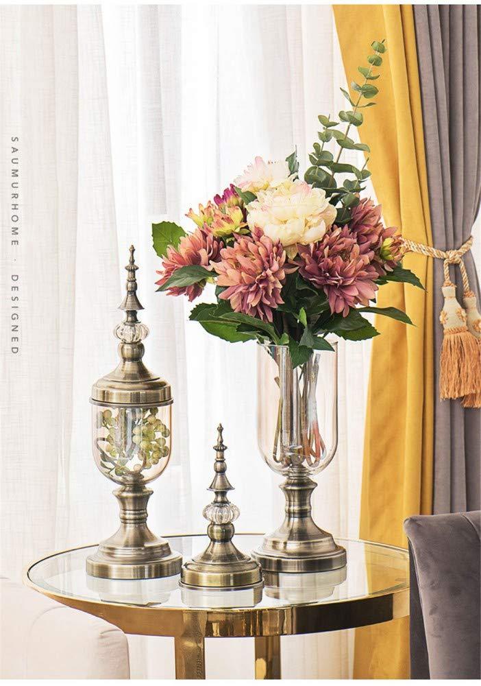 Bilder, Poster, Kunstdrucke & Skulpturen Statuen ZKPDIAO Statuen Transparente Verzierungen Der Europäischen Blumenvasenwohnzimmerdekoration Transparente Tuba