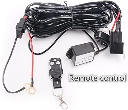 12V-24V Car Driving Remote Control Flash Strobe 2 Lead LED Light Harness Kit