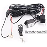 Led Light Bar Lumitek Remote Control Wiring Harness Kit 40A 12V ON / Off Switch Relay for Driving Lights Fog Lights Bar…