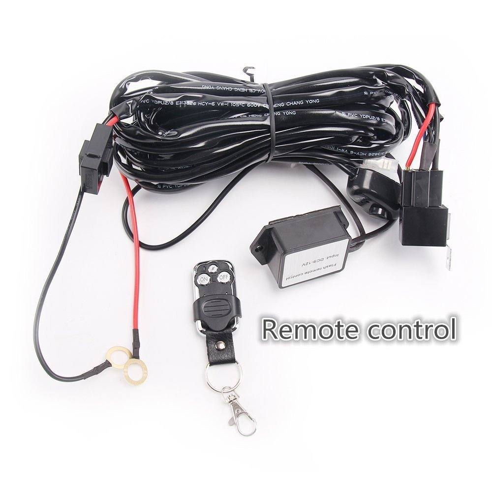 Led Light Bar Lumitek Remote Control Wiring Harness Kit 40a 12v On Off Switch Relay