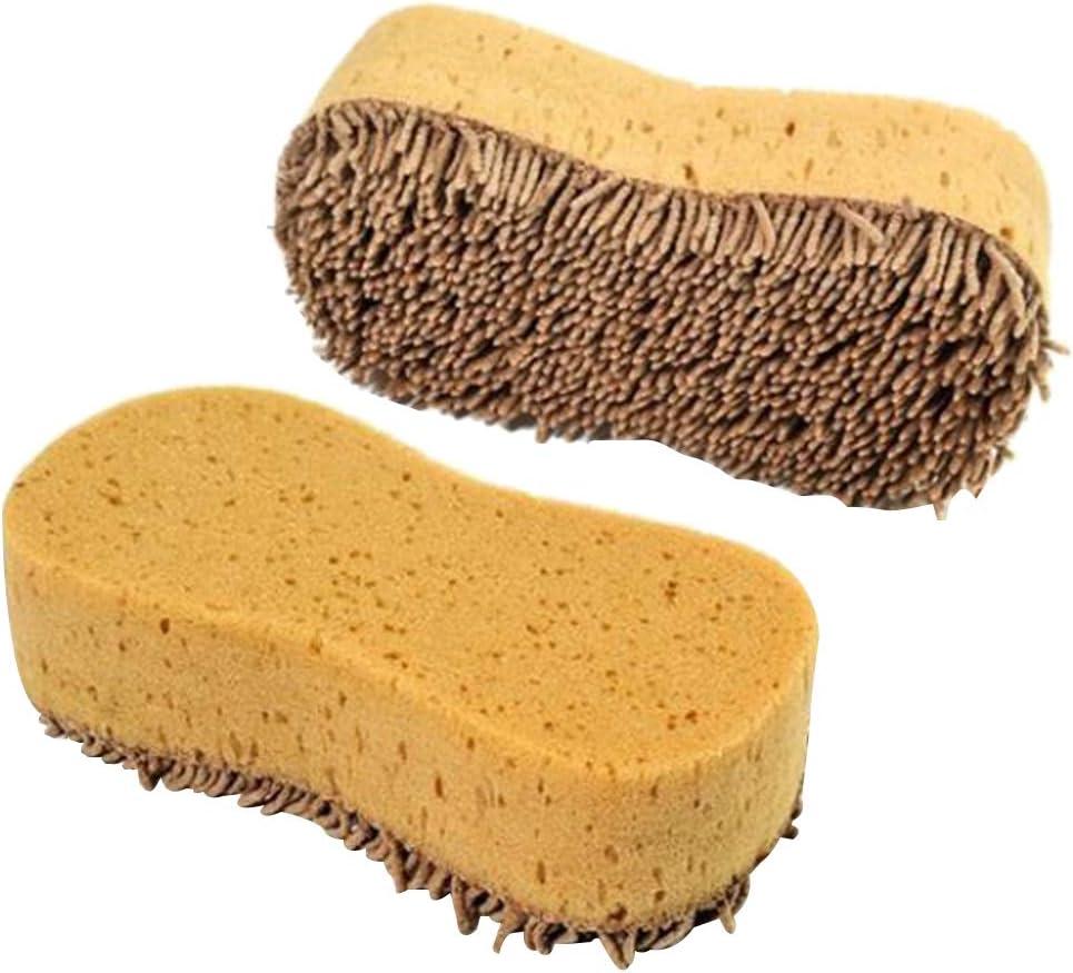 TOPBATHY 2pcs Multi Purpose Cleaning Sponge Brush Window Cleaner for Scrubbing Kitchen Bathroom Window Car Windshiel Floor