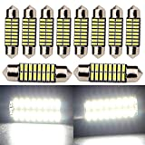 "Everbright 10-Pack Extremely Bright White 31MM 1.25"" 4014 Chipes 16-SMD DE3175 DE3021 DE3022 3175 LED Festoon Interior Map/Dome Dome/Trunk/Glove Box Lights LED Lamp (DC-12V)"