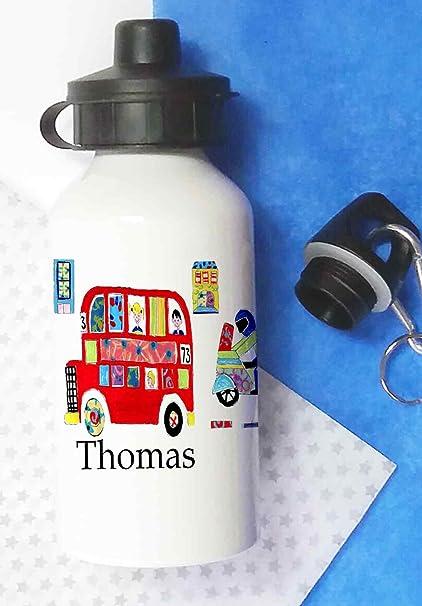 4cef558889 Water Bottle,Kids Drinks bottle,Personalised, Cars,school, lunch bottle:  Amazon.co.uk: Kitchen & Home
