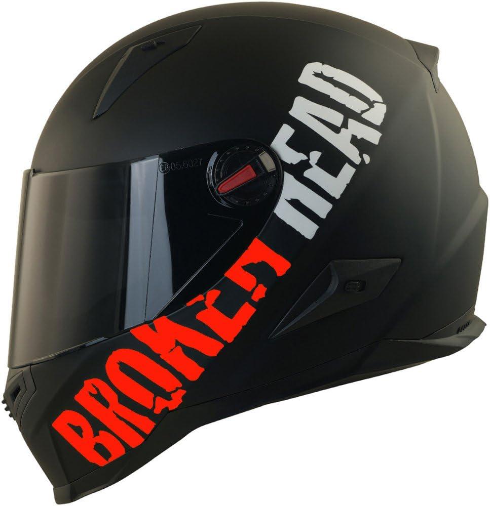 Broken Head Beproud Rot Ltd Schlanker Motorradhelm Mit Schwarzem Zusatz Visier Matt Schwarz Größe L 59 60 Cm Auto