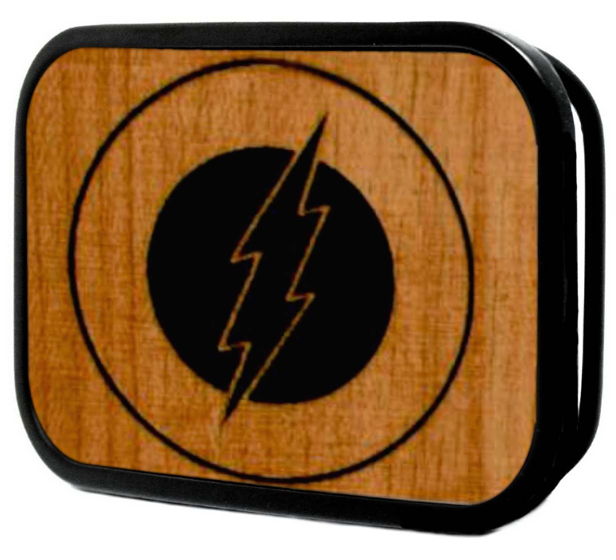 Flash DC Comics Superhero Wooden Emblem Logo Rockstar Belt Buckle Buckle Down
