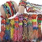 Bestpriceam 50pcs Wholesale Jewelry Lot Braid Strands Friendship Cords Handmade Bracelets Colorful …