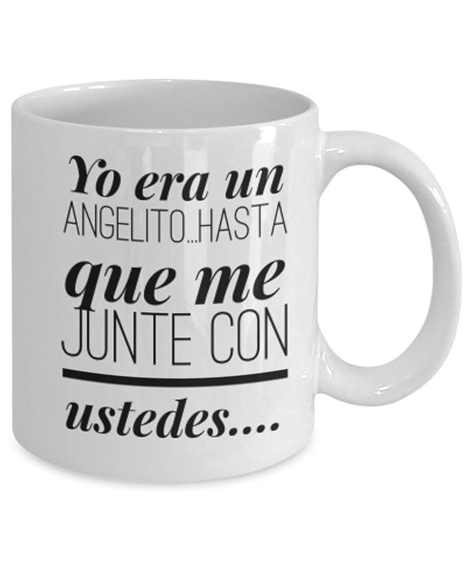 Amazon.com: Yo era un Angelito | AFIRMACIONES Taza cafe, tazas para café divertidas, tazas de café personalizadas, taza de café inspiradoras, taza grande de ...