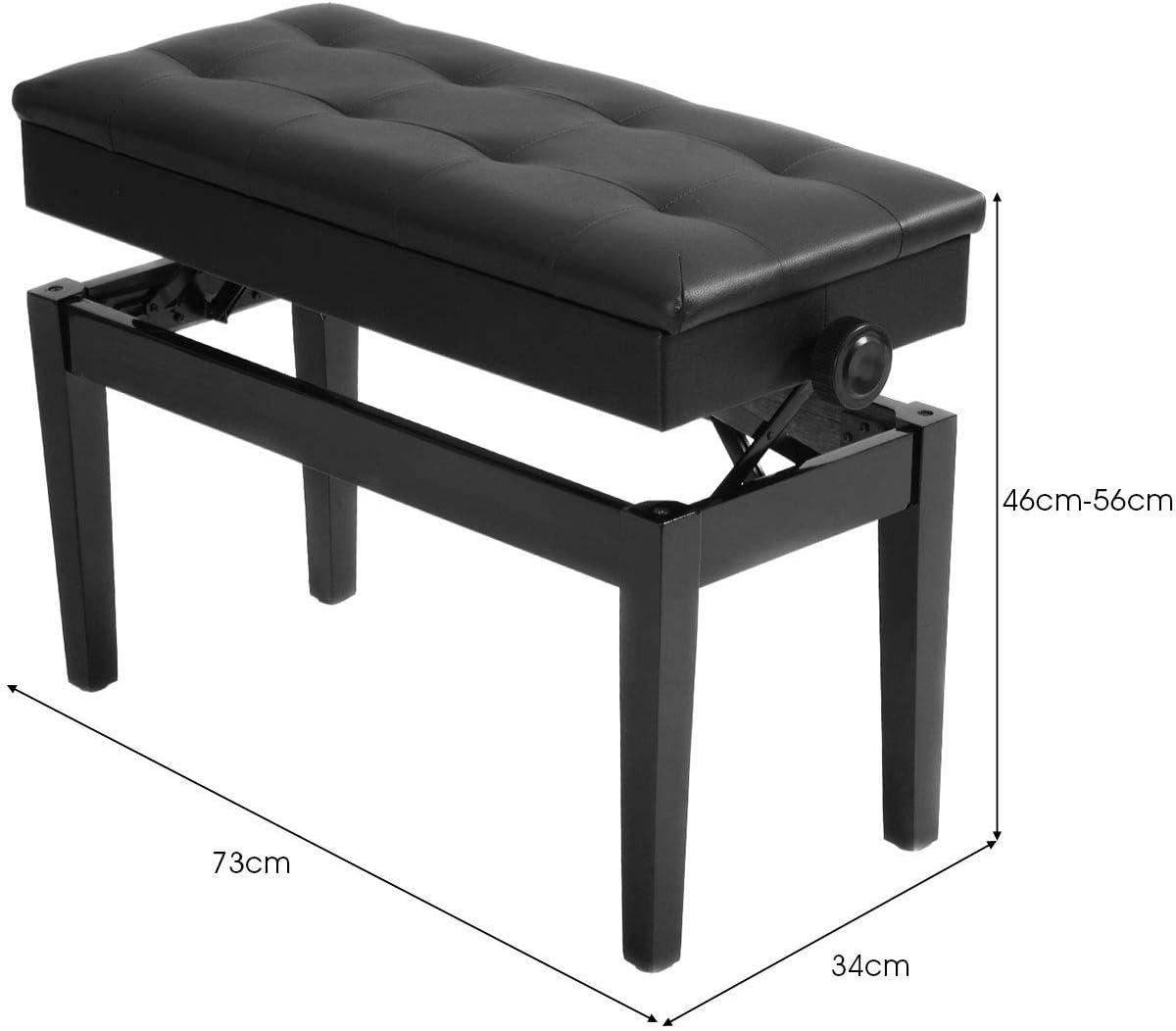 tastiera nera panchine per pianoforte Astr sgabello pieghevole per pianoforte panca per tastiera a X regolabile per la casa