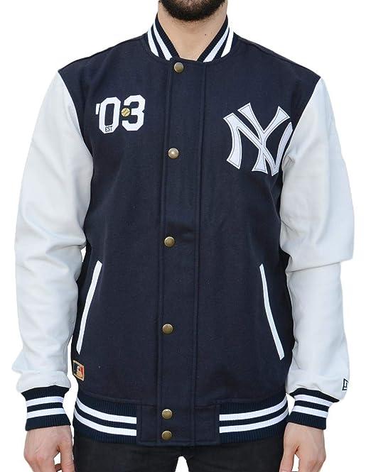 New Era Ne90102Fa16 CT Letterman Neyyan Chaqueta-Línea York Yankees, Hombre, Azul (Navy), XL