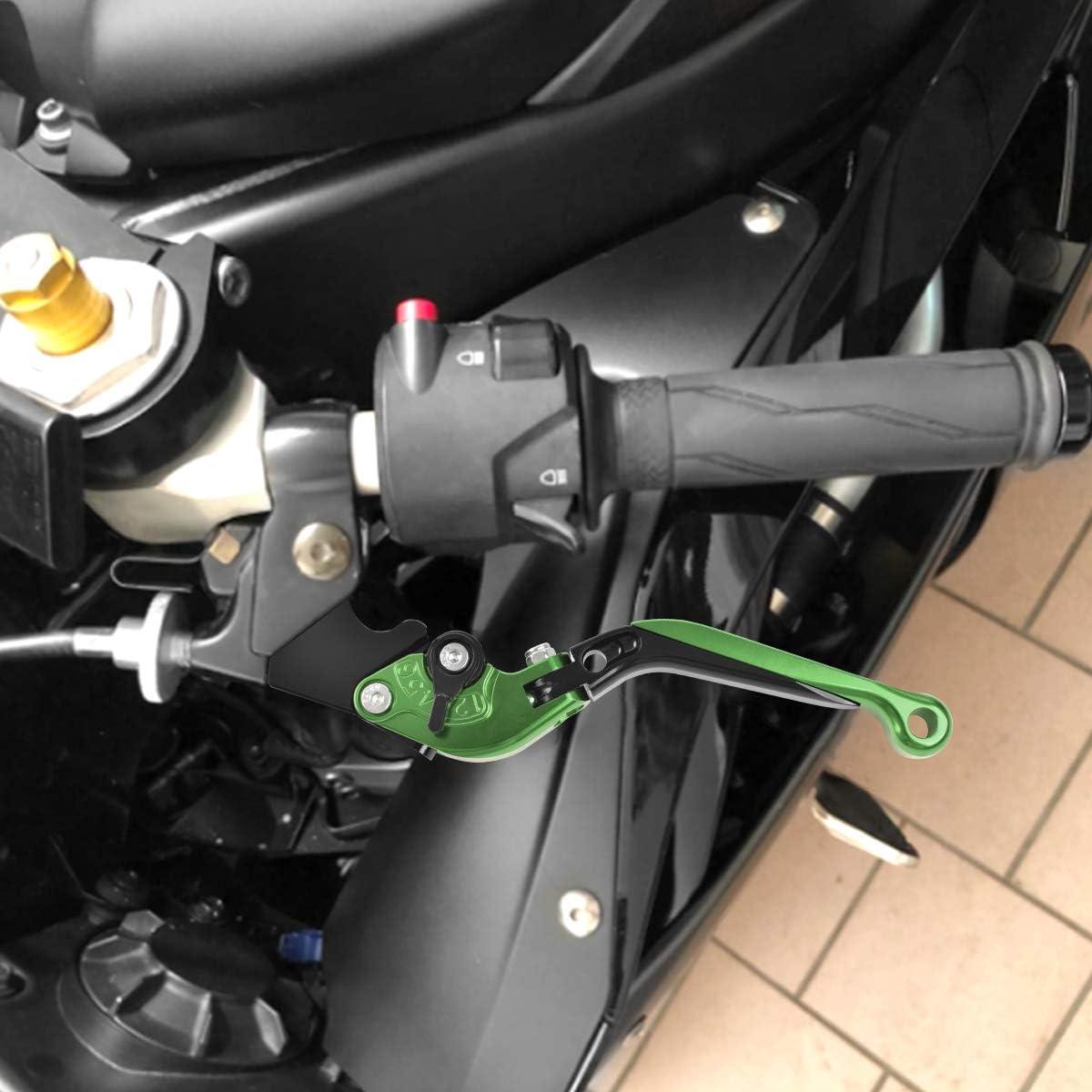Bremshebel Klappbar Kawasaki Z1000 2007 2016 Z1000sx Ninja 1000 Tourer 2011 2016 Kupplungshebel Skalierbar Cnc Motorrad Hebel Grün Schwarz Auto