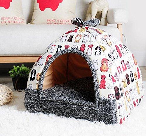 OHlive Accogliente Tenda per yurt Rimovibile e Lavabile Tenda per Gatti con Fragole (Gruppo Beige di Cani)