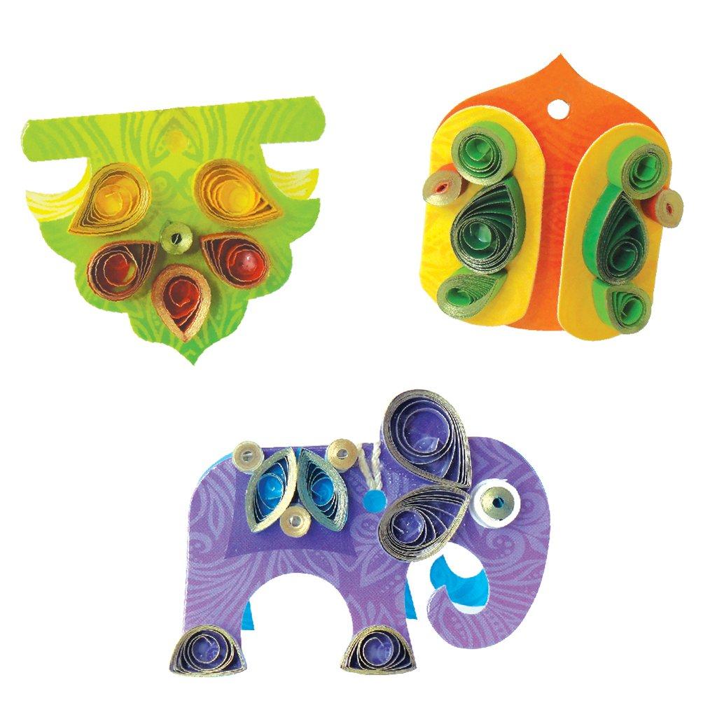 Festive Delight Quilling Kit for Diwali Decoration - Make Toran, Rangoli, Diyas, Greeting Card, Gift Box & Gift Tags
