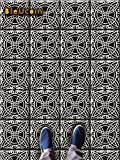 Tile Stickers in Moroccan Encaustic Casablanca Style for Kitchen and Bathroom Backsplash, Removable Stair Riser Stickers, Peel & Stick Home Decor ( Pack of 44 ) (7'' x 7'' Inches)