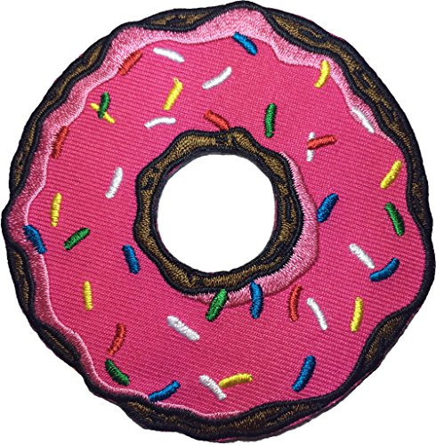 [Cartoon donut patch SIZE 8.5cm. biker heavy metal Logo Jacket Vest shirt hat blanket backpack T shirt Patches Embroidered Appliques Symbol Badge Cloth Sign Costume] (Cheech And Chong Girl Costumes)