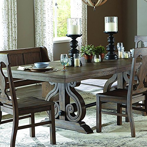 Rectangular Trestle Dining Table (Toulon Rectangular Trestle Dining Table in Oak)