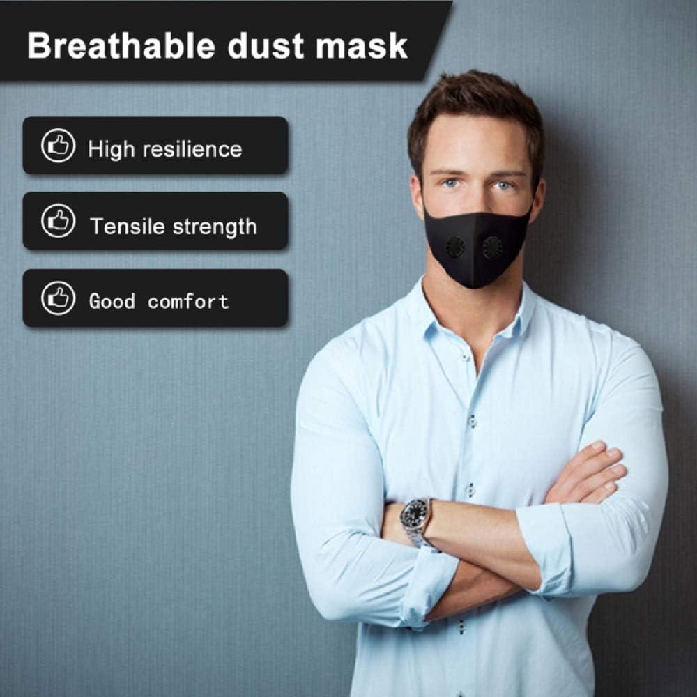 ANYIKE Mascarilla Facial con carb/ón Activado para alergia al Polen Actividades al Aire Libre Correr siega Doble v/álvula de exhalaci/ón neblina