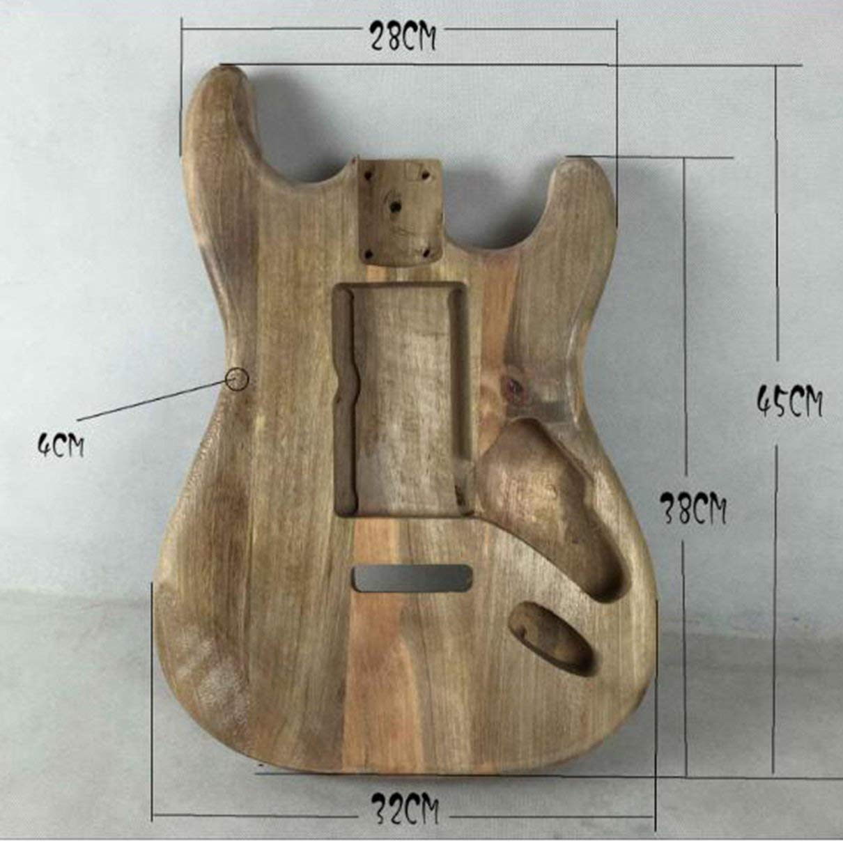 Unfinished DIY Guitar Body Maple Body for Fender ST Style Guitar