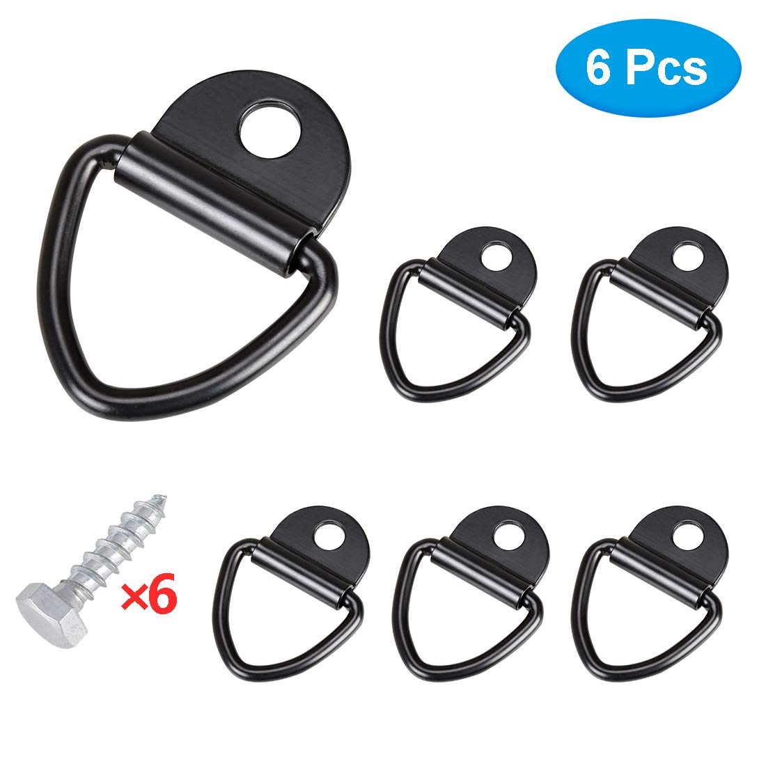 SUPAREE 4 Pcs Truck Bed Side Wall Tie Down Anchors for 2007-2018 Chevy Silverado/GMC Sierra, 2015-2018 Colorado & Canyon