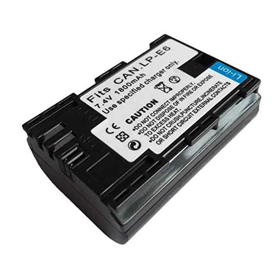 Prima05Sally Cargador de batería LP-E6 para cámaras Canon EOS 5D ...