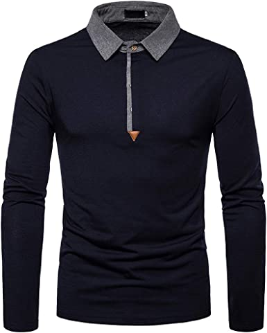 Suncolor8 Men Striped Classic Buttons Business Formal Long Sleeve Dress Shirts