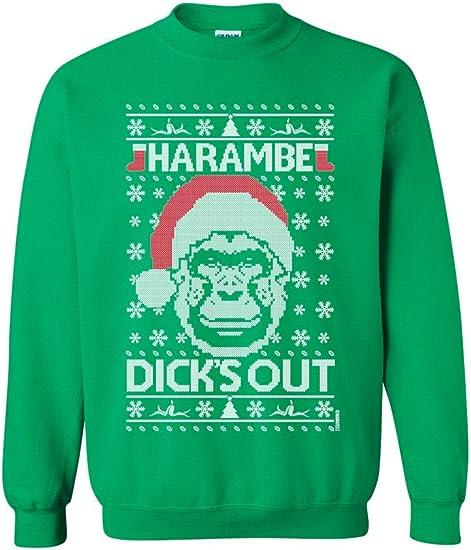 Harambe Loved Christmas Ugly Christmas Sweater Gorilla Animal Funny Sweatshirt