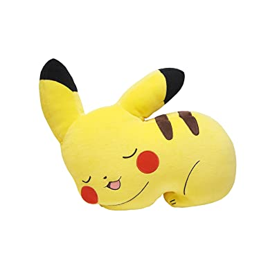 "Sanei Pokemon All Star Collection PZ17 Sleeping Pikachu Cushion Plush, 11"": Toys & Games"