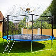 Neoformers Trampoline Sprinkler Water Park, Outdoor Water Game Sprinkler for Trampoline, Fun Summer Backyard W