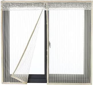 Mosquitera Icegrey para puertas y ventanas, protección contra insectos, imán, mosquitera para la puerta del balcón, 34 tamaños, adecuada para hasta máximo 200 cm x 200 cm , ICG-80651-1-2-(200x180cm): Amazon.es: Bricolaje y herramientas