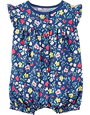 Baby Girls' Floral Creeper