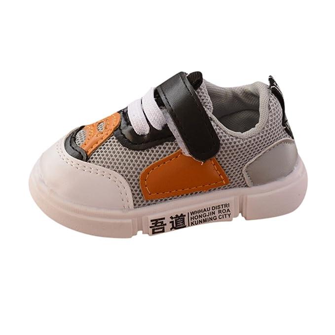YanHoo Zapatillas de Deporte para Correr para niños pequeños y Deportivos para Zapatillas de Suela Blanda Zapatillas de Deporte Calzados Infantiles de Color ...