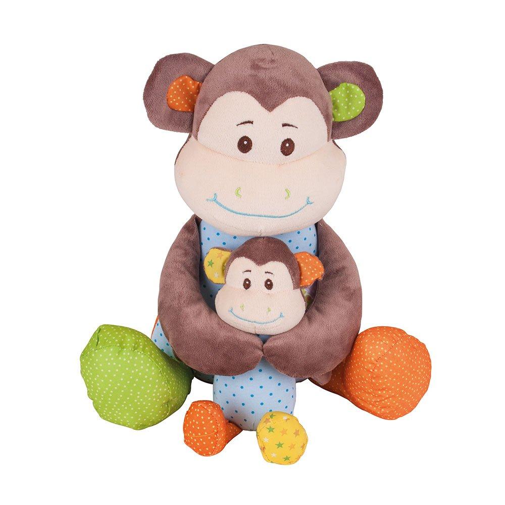 Bigjigs Toys Scimmietta dispettosa 34cm Giocattolo in Morbida Felpa
