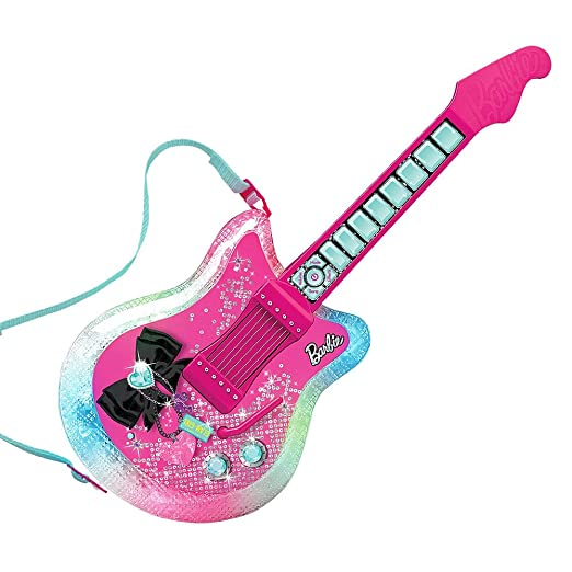 Barbie Dazzling Diva Light-Up Toy Electric Guitar