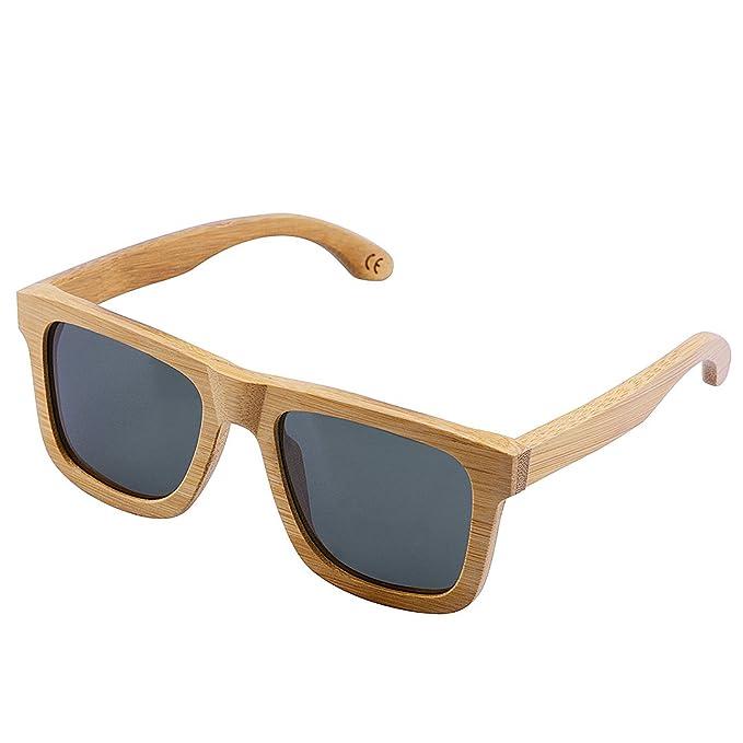 BEWELL Gafas de Sol Madera G004A: Amazon.es: Ropa y accesorios