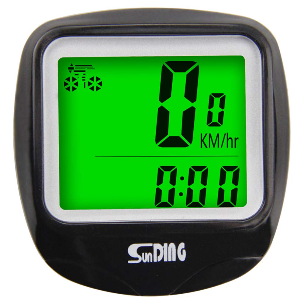 HKCYSEA Bike Speedometer Wireless Bicycle Pedometer Waterproof LCD Back-Light Display Battery Power Odometer,Perfect for Hiking Climbing Riding and Other Outdoor Actives